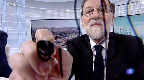 ¿Firmó Rajoy como  M. Rajoy  en los Desayunos de TVE?