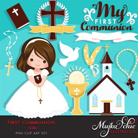 First Communion Clipart for Girls   Mujka Clipart ...