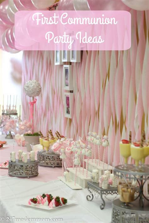 First Communion Party Ideas + Beautification Tips | Mary ...