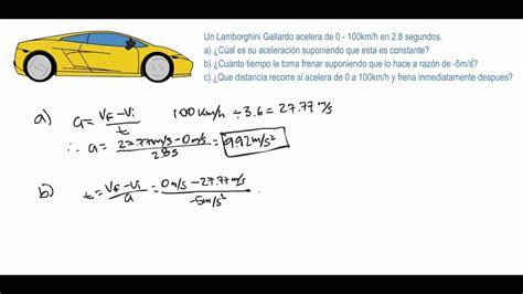 Física   Ejercicio de movimiento rectilíneo uniformemente ...