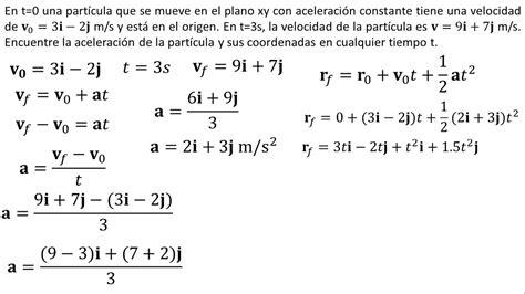 Física | Movimiento en dos dimensiones con aceleración ...