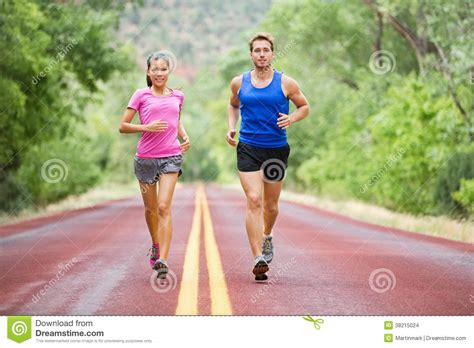 Fitness Sport Couple Running Jogging Stock Images   Image ...