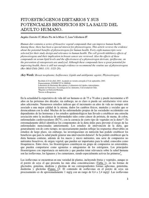 FITOESTRÓGENOS DIETARIOS Y SUS POTENCIALES BENEFICIOS EN ...