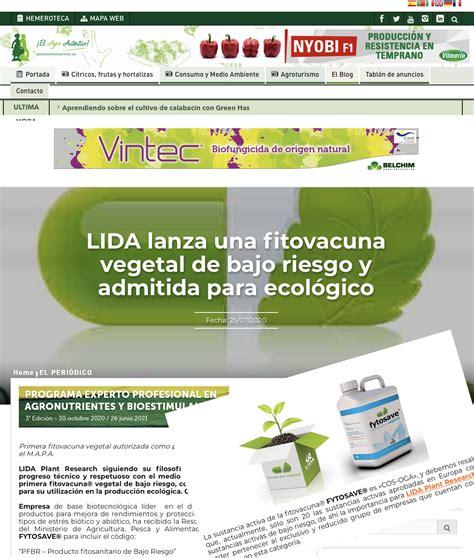 Fitovacuna vegetal autorizada como producto fitosanitario ...