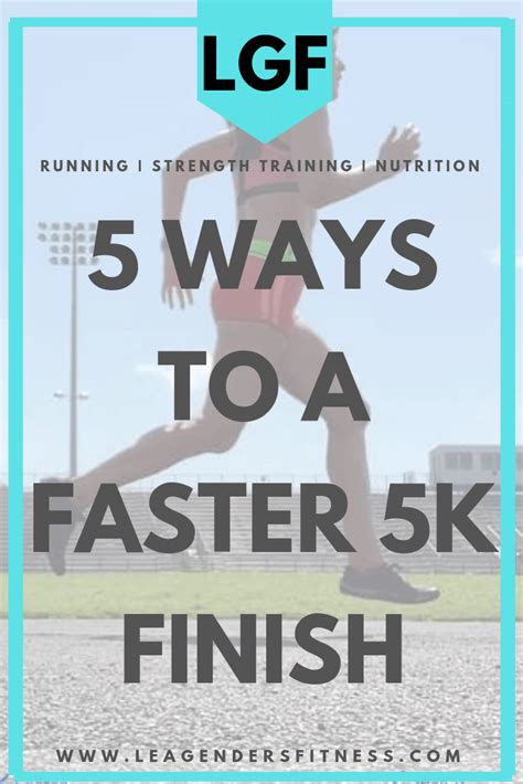 Five Ways To A Faster 5K Finish  With images  | How to run ...