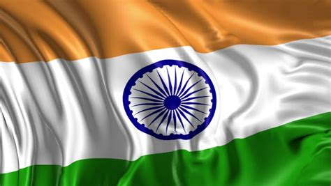 Flag of India Beautiful 3d Stock Footage Video  100% ...