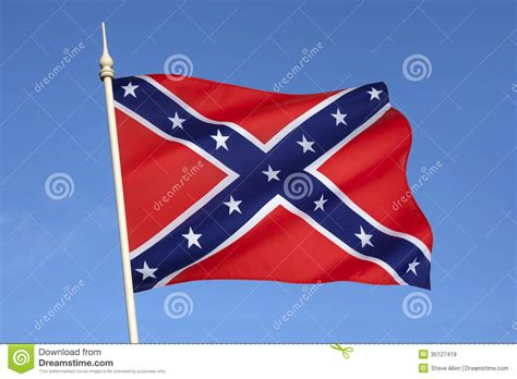 Flag Of The Confederate States Of America Royalty Free ...