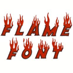 Flame Font Embroidery Alphabet from Starbird Inc | Grand ...