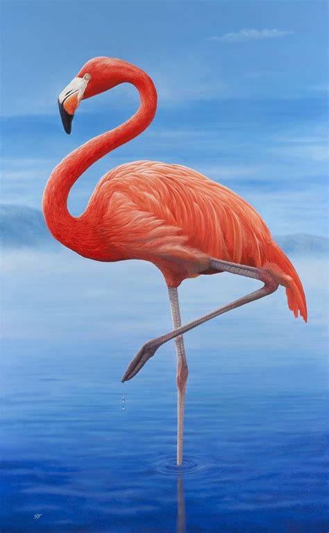 Flamingo art print from an original oil painting ...