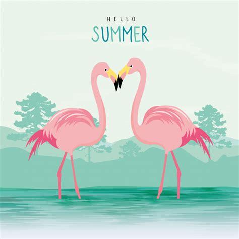 Flamingo rosa animal ave cartoon personagem vetor | Baixar ...