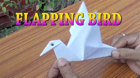 FLAPPING BIRD PAPER CRAFT ORIGAMI EASY STEPS FOR KIDS ...