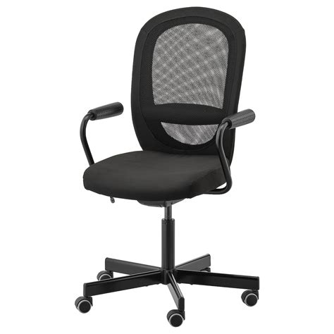FLINTAN / NOMINELL Office chair with armrests   black   IKEA