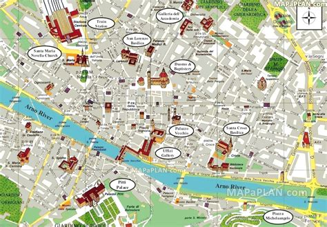 Florence map   Fun things to do with family & kids, Bird s ...
