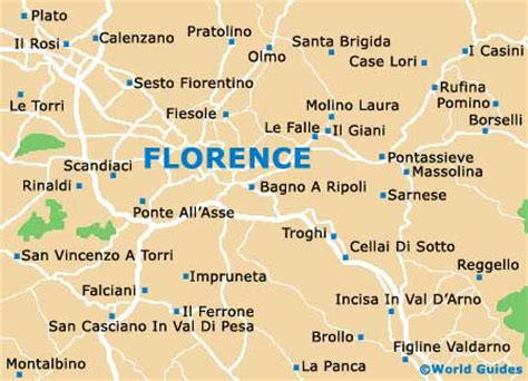 Florence Maps and Orientation: Florence, Tuscany, Italy