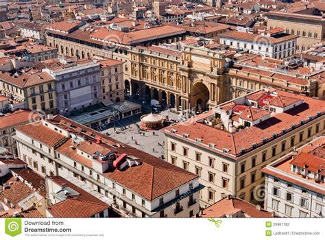 Florence, Piazza Della Repubblica  Republic Square  Aerial ...