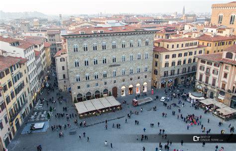 Florence. Piazza della Signoria seen from the tower of ...