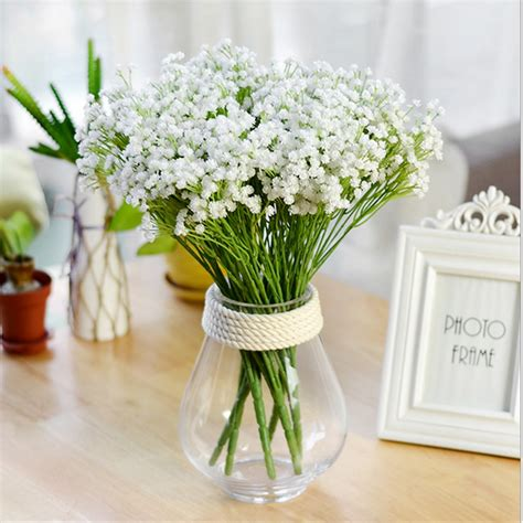 Flores artificiales de plástico de yeso para la decoración ...