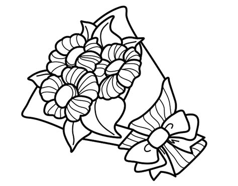 Flores de primavera para pintar | Colorear imágenes