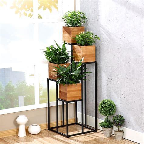 flores estantería Estantes para plantas escalera metálica ...