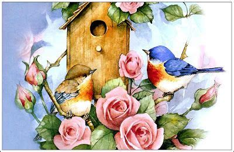 Flores y pajaros para imprimir | laminas decoupage | Pinterest