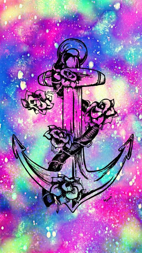 Flower Galaxy Anchor Wallpaper | My Wallpaper Creations in ...
