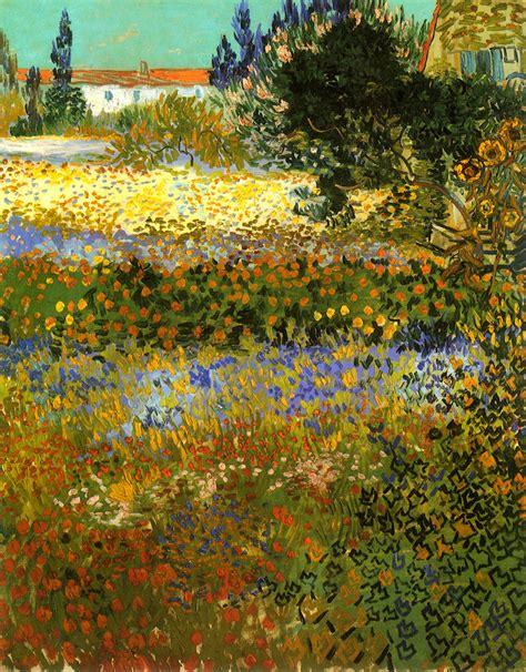 Flowering Garden, 1888   Vincent van Gogh   WikiArt.org