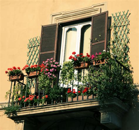 Flowers on Balconies