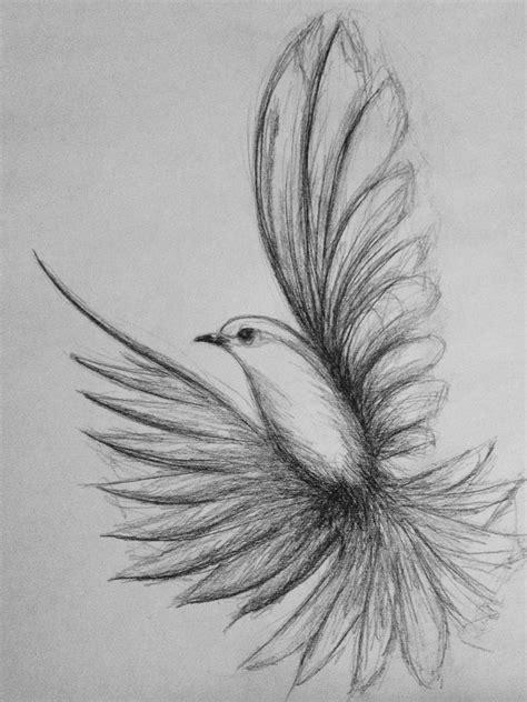 flying bird drawing Shazzad68   Bird drawings, Art ...