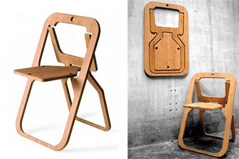 Folding chair made from a single piece of wood: Desile ...