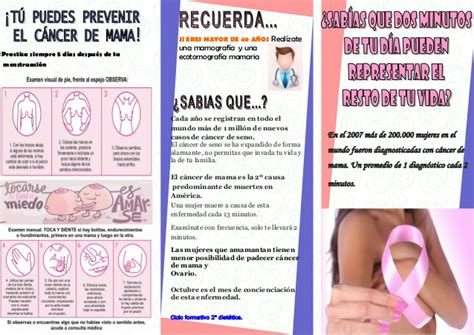 Folleto cancer de mama