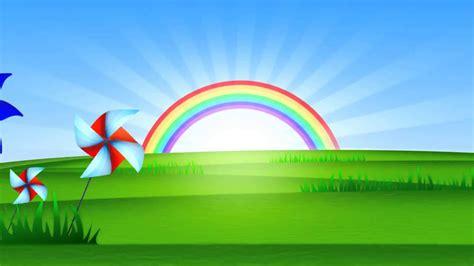 Fondo Animado Paisaje Arco Iris Full HD Animate ...