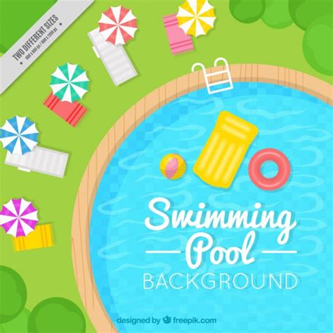 Fondo de estilosa piscina | Vector Gratis