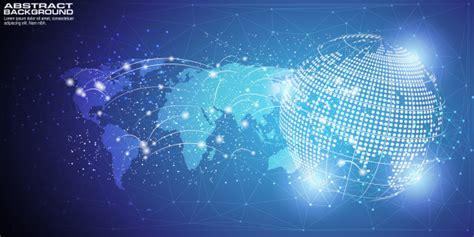 Fondo digital con conexión de red global de punto de mapa ...