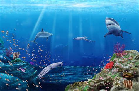 Fondo marino   Ilustracion Digital   Jhon Jairo Barinas ...