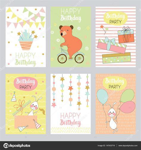 fondos 6 infantiles para tarjetas de felicitación ...