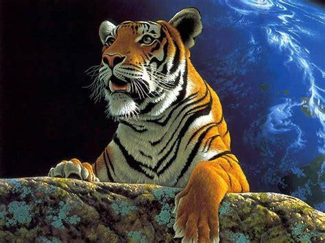 FONDOS COPADOS: wallpaper de un tigre