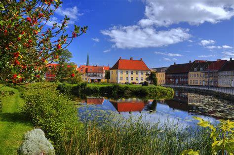 Fondos de Pantalla Dinamarca Casa Ríos Nyborg Ciudades ...