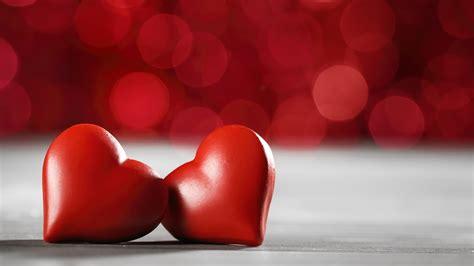 Fondos de pantalla Dos corazones de amor, estilo rojo ...