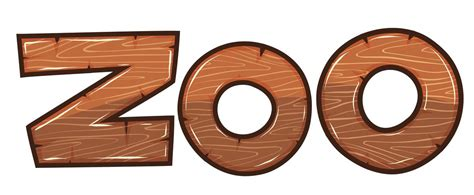 Font design for word zoo   Download Free Vectors, Clipart ...