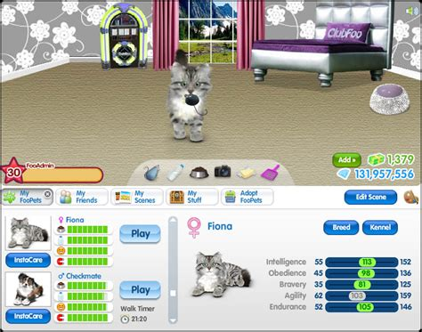 FooPets   Real Virtual Pets Online