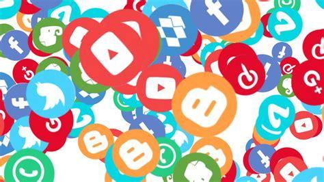 Footage video animado de logos de redes sociales   YouTube