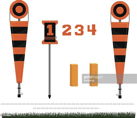 Football First Down Markers High Res Vector Graphic ...