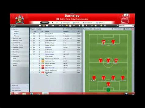 Football Manager 2009 gameplay on the PC.  Part1    YouTube