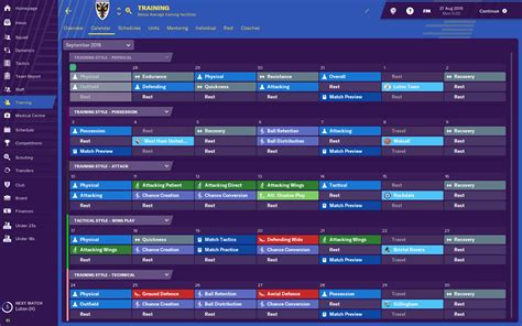 Football Manager 2019 Feature Blogs: Training Overhaul ...