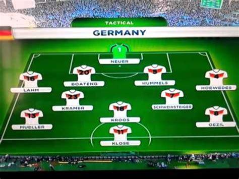 Formación de Argentina Alemania 2014   YouTube