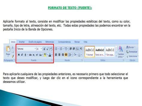 Formato de texto y párrafo   Word 2007