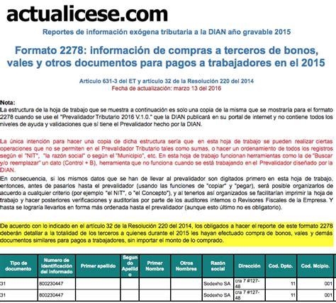 [Formato] Formato 2278: información de compras a terceros ...