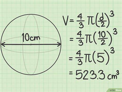 Formula De Una Esfera Volumen