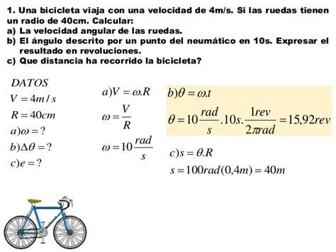 formulas para hallar la velocidad angular