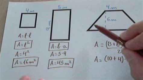 Fórmulas y calcular el área de cuadriláteros sencillos ...